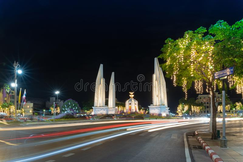 Monumento della Democrazia in Thailandia immagini stock libere da diritti