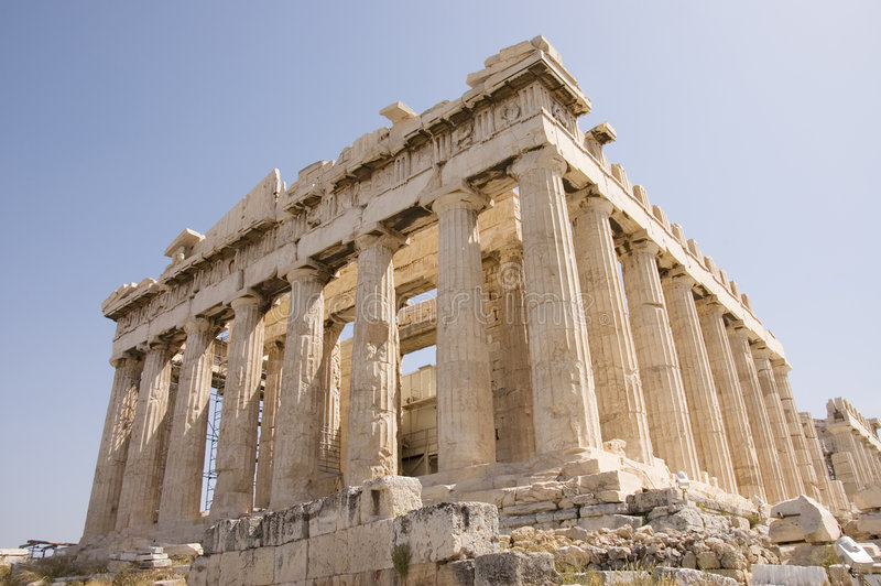 Monumento della Grecia fotografia stock
