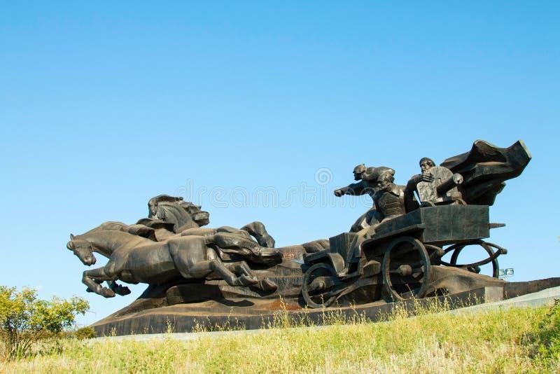 Monumento della guerra civile fotografia stock