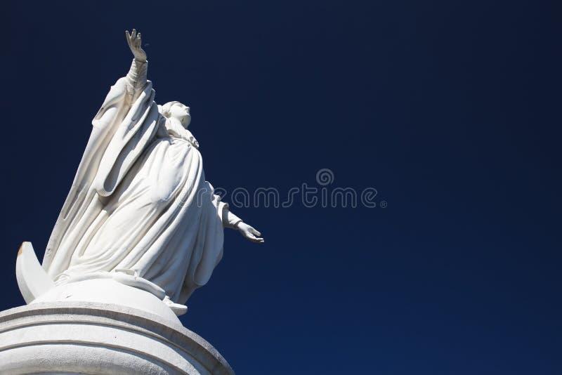 Monumento della Maria del Virgin su San Cristobal immagine stock libera da diritti