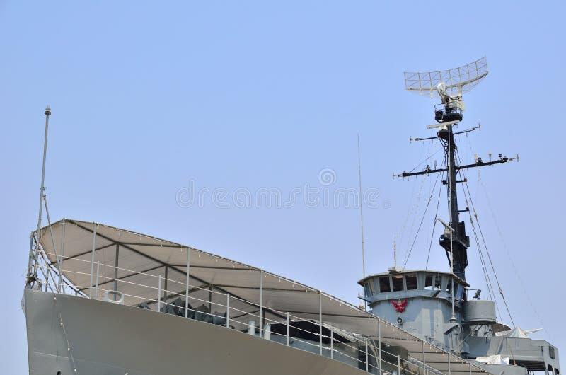 Monumento della nave da guerra a Thaland immagini stock
