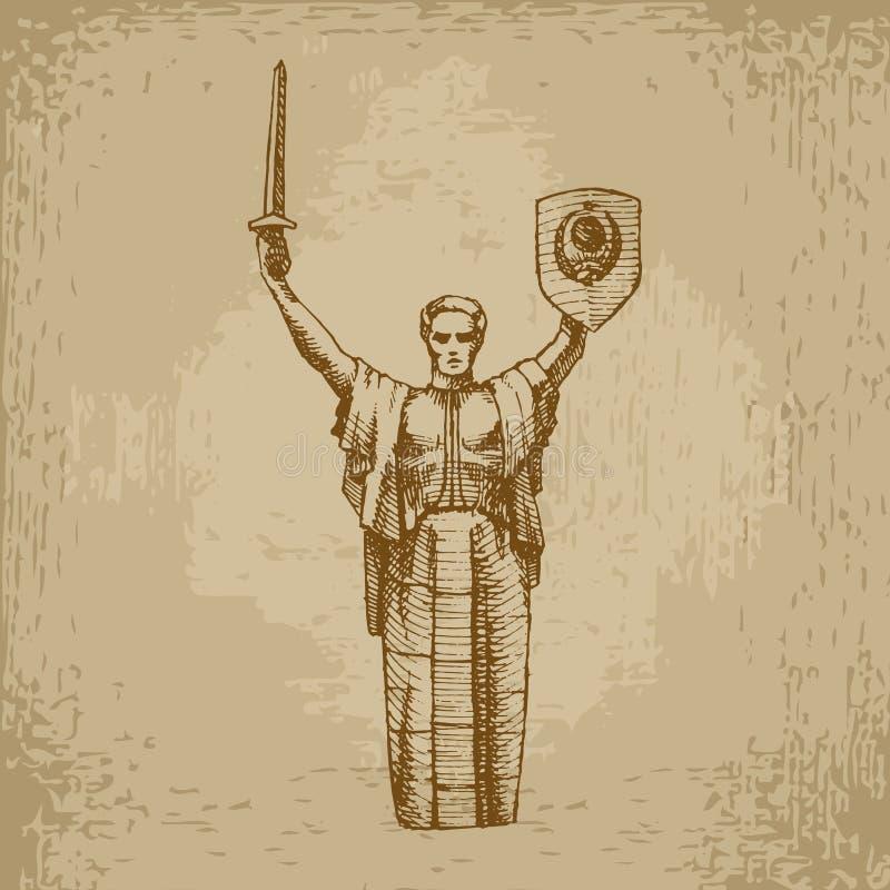 Monumento della patria, UCRAINA fotografia stock libera da diritti