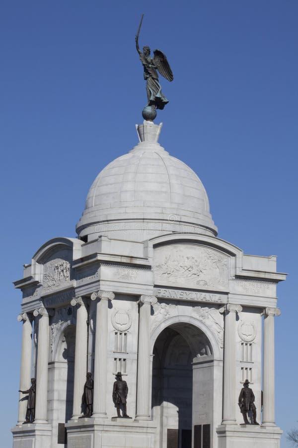 Monumento della Pensilvania, campo di battaglia di Gettysburg fotografia stock