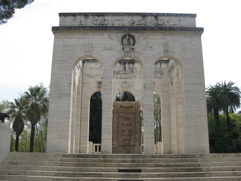 monumento-della-societ-garibaldina fotografia stock