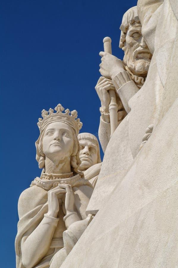 Monumento delle scoperte a Lisbona fotografie stock libere da diritti