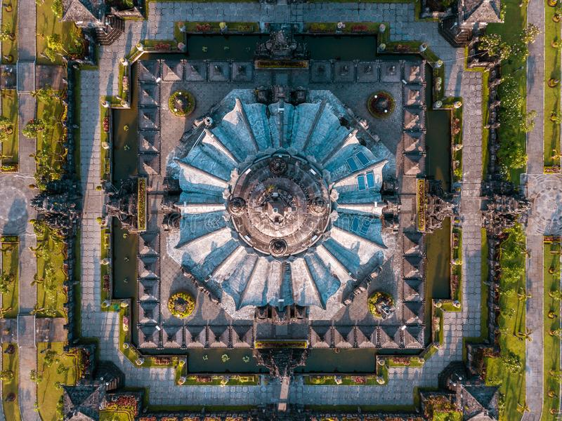 Monumento denpasar do renon da opinião de Aearial foto de stock royalty free