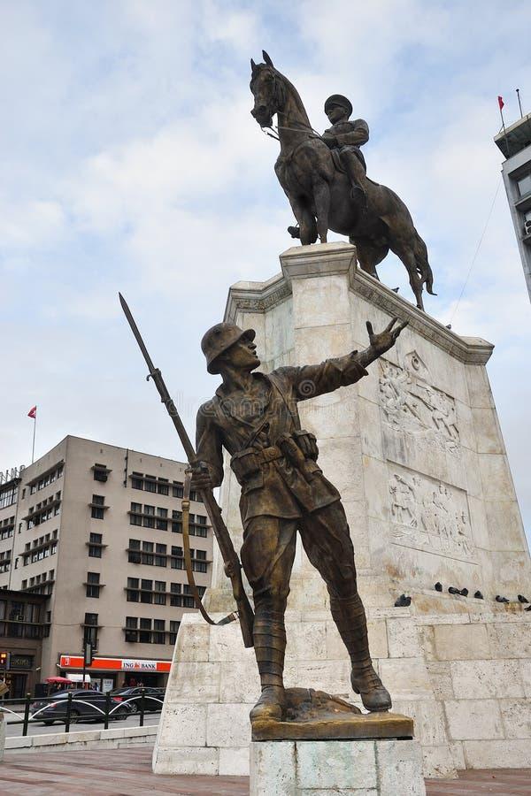 Monumento di Ataturk, Ankara Turchia fotografia stock