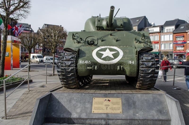 Monumento di Bastogne WWII immagine stock