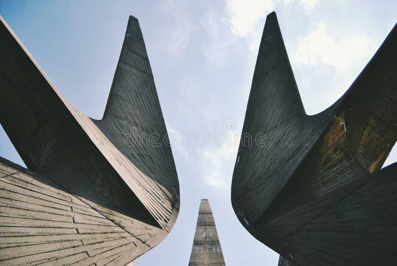 Monumento di Brutalism fotografia stock libera da diritti