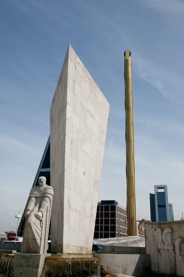Monumento di Calvo Sotelo - Madrid - Spagna immagine stock