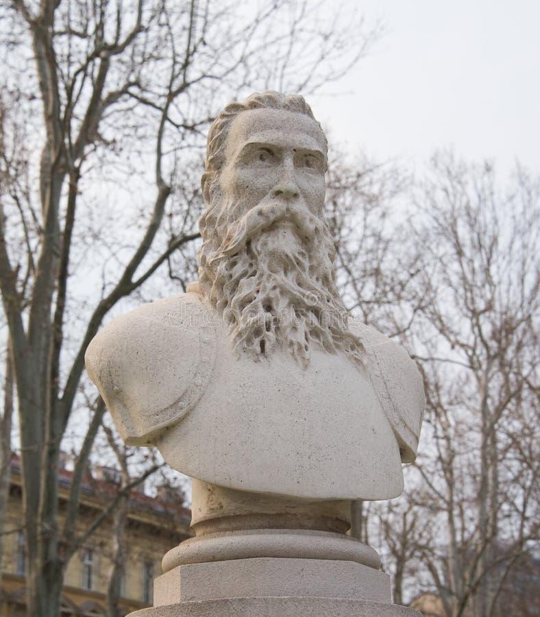 Monumento di Christoph Frankopan a Zagabria immagini stock libere da diritti