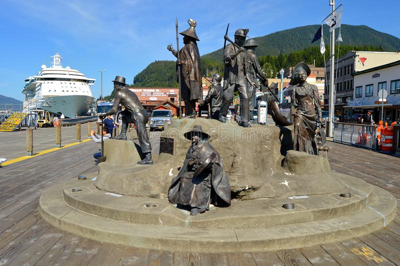 Monumento di crociera di Ketchikan Alaska fotografia stock