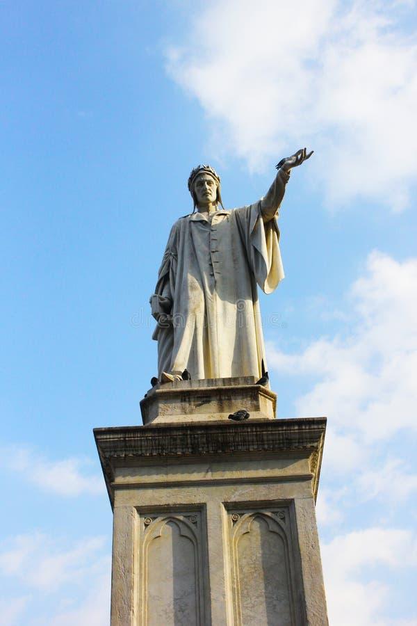 Monumento di Dante fotografie stock