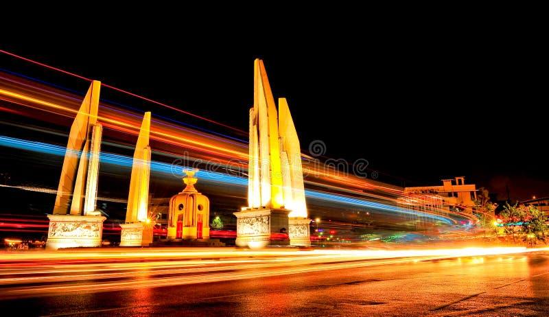 Monumento di democrazia, Bangkok, Tailandia fotografia stock libera da diritti