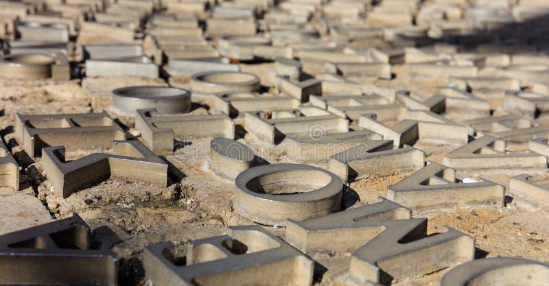 Monumento di diritti umani a Nicosia, Cipro Vista del primo piano con i dettagli immagine stock libera da diritti