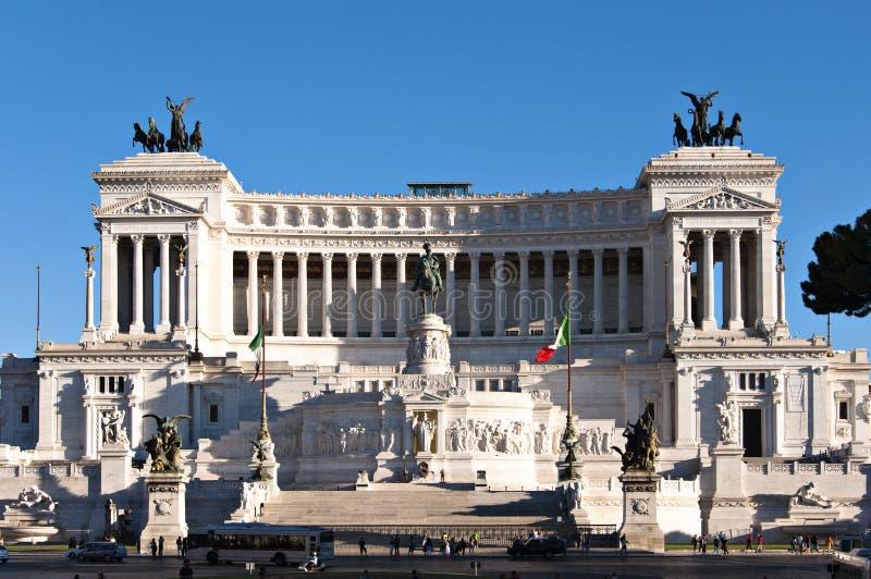 Monumento di Emmanuel II del vincitore immagine stock libera da diritti