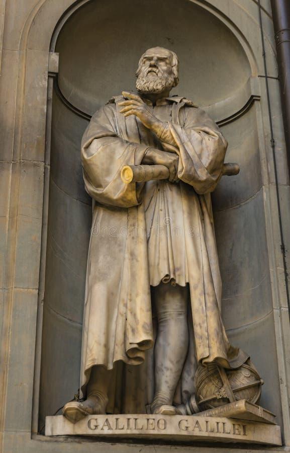 Monumento di Galileo Galilei a Firenze, Italia immagine stock libera da diritti