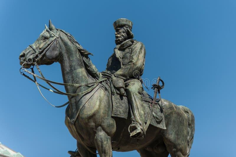 Monumento di Garibaldi fotografie stock