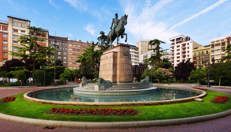 Monumento di generale Espartero Logrono, Spagna fotografie stock libere da diritti