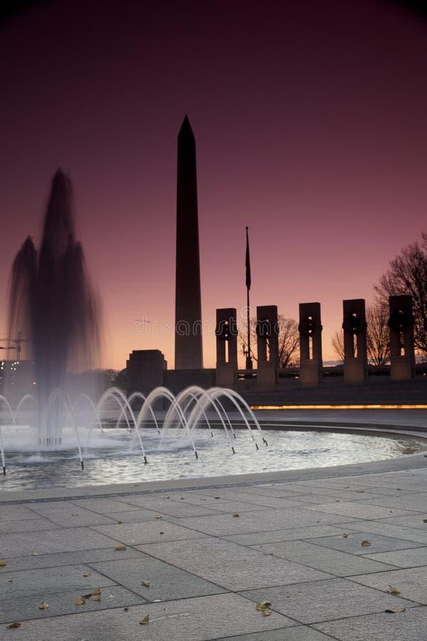 Monumento di George Washington, memoriale di guerra immagini stock libere da diritti