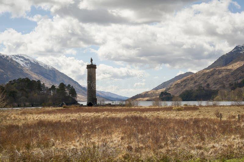Monumento di Glenfinnan immagine stock libera da diritti