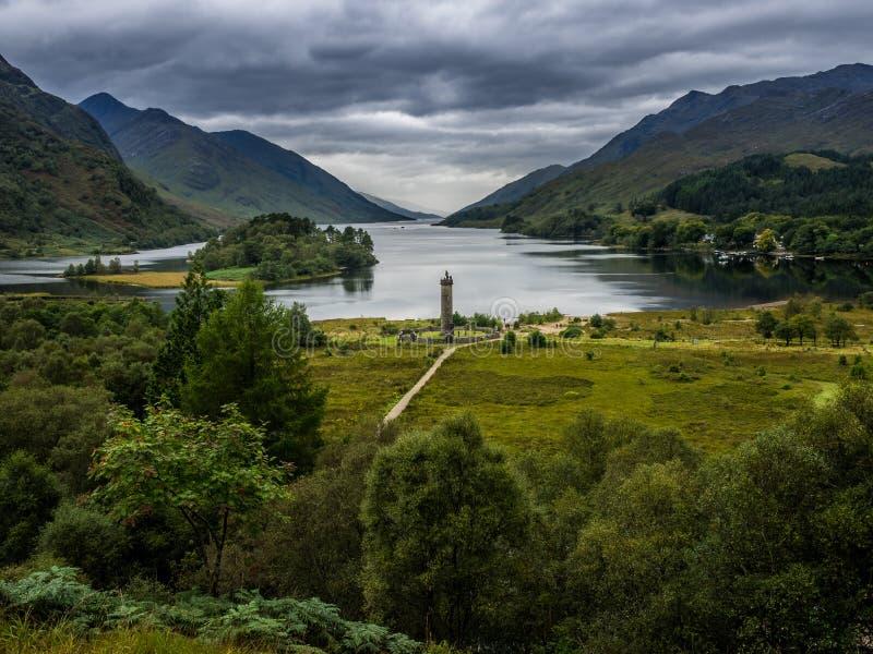 Monumento di Glenfinnan in Lochaber, Scozia immagine stock