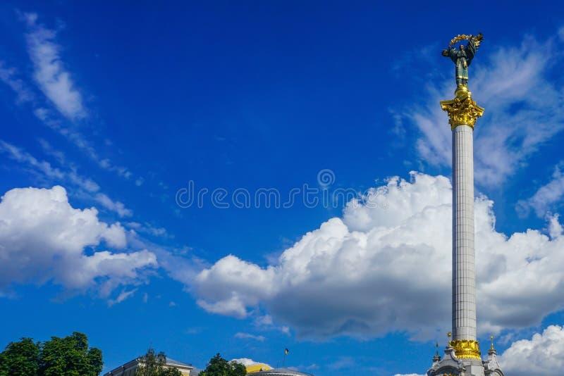 Monumento di indipendenza di Kiev Maidan fotografie stock