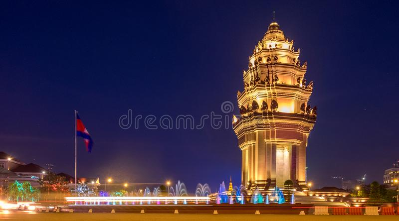 Monumento di indipendenza a Phnom Penh fotografia stock libera da diritti