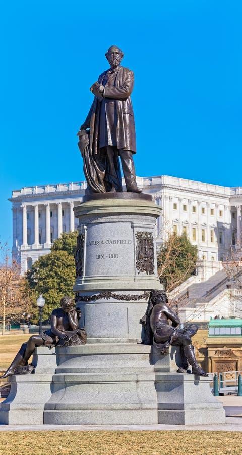 Monumento di James Garfield in Washington DC U.S.A. fotografia stock libera da diritti
