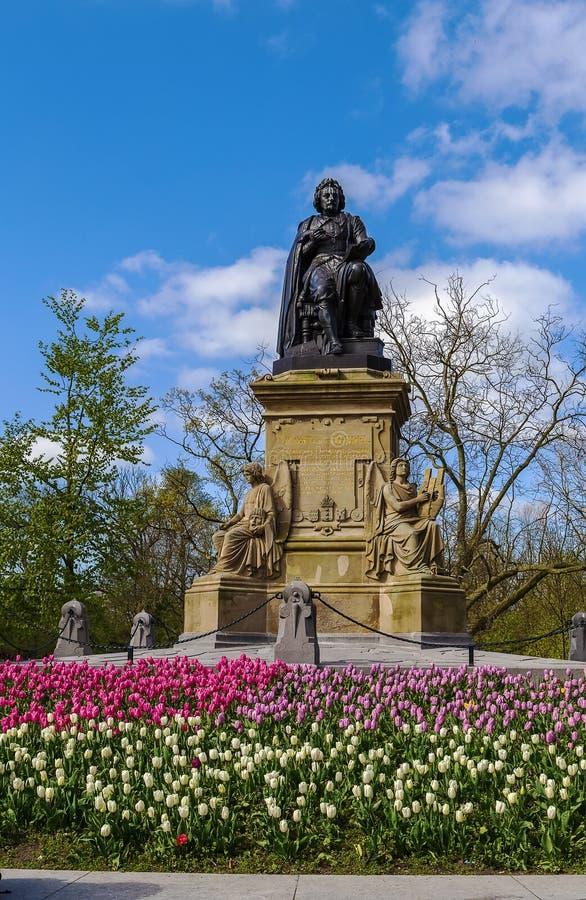 Monumento di Joost van den Vondel, Amsterdam fotografia stock
