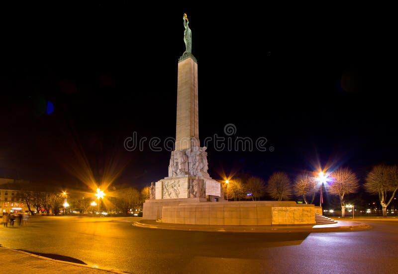 Monumento di libertà, Riga immagini stock