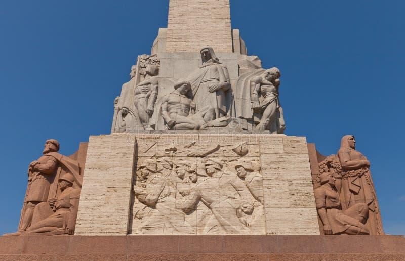 Monumento di libertà a Riga, Lettonia (frammento) fotografia stock