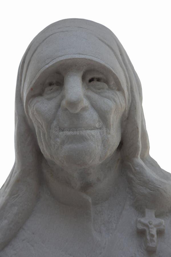 Monumento di Madre Teresa a Skopje immagine stock