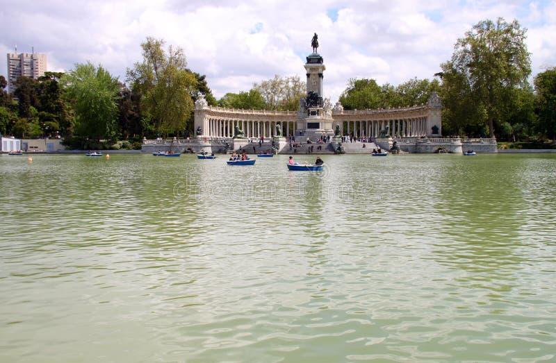 Monumento di Madrid di Alfonso XIII immagini stock libere da diritti