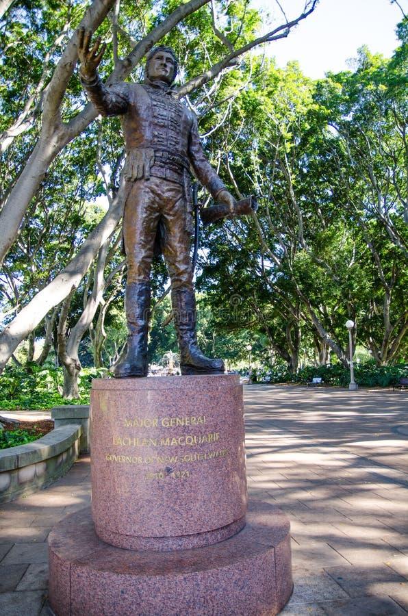 Monumento di Major General Lachlan Macquarie a Hyde Park, Sydney, Australia fotografia stock libera da diritti