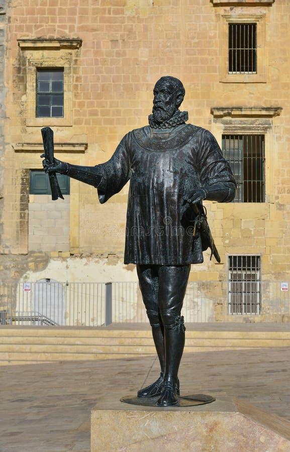 Monumento di Malta Valette fotografia stock