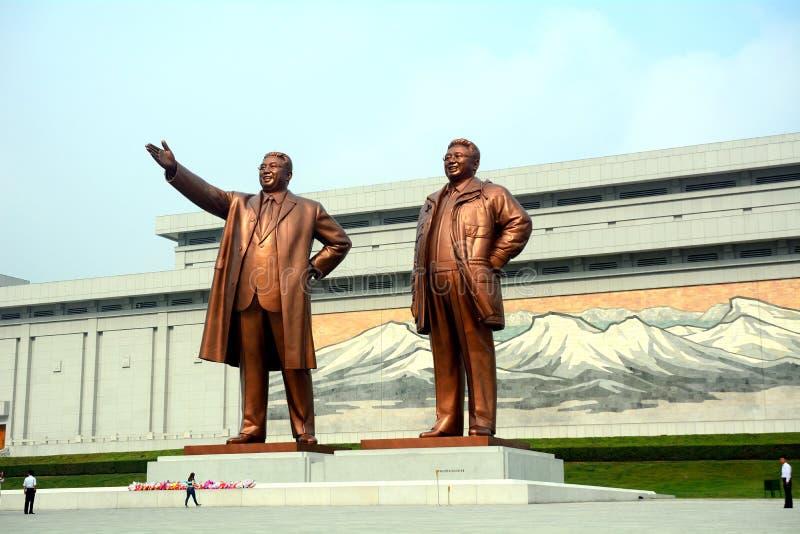 Monumento di Mansudae, Pyongyang, Corea del Nord fotografia stock libera da diritti
