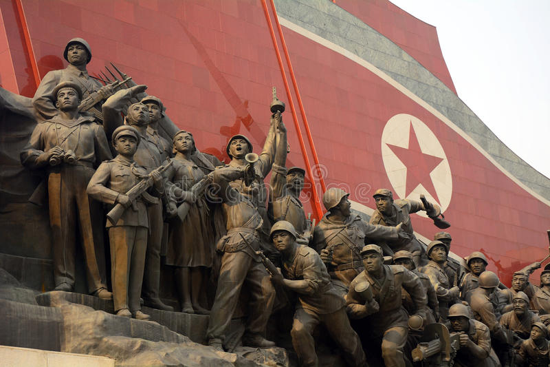 Monumento di Mansudae, Pyongyang, Corea del Nord fotografia stock
