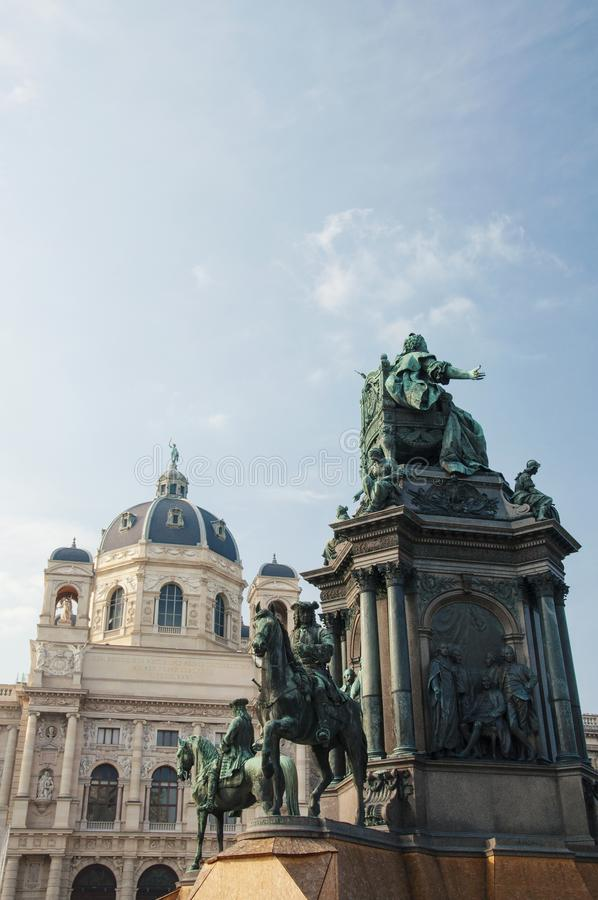 Monumento di Maria Theresa alla città di Vienna immagini stock