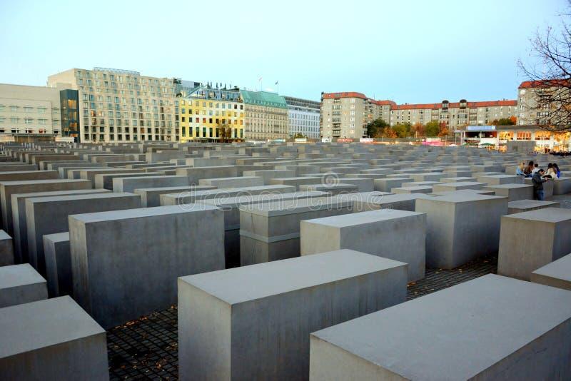 Monumento di olocausto, a Berlino fotografie stock
