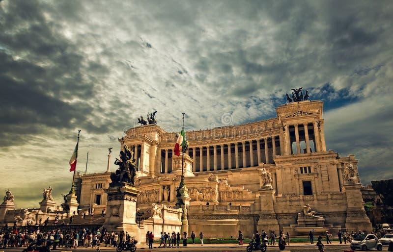 Monumento di Patria di della di Altare a Roma fotografie stock libere da diritti