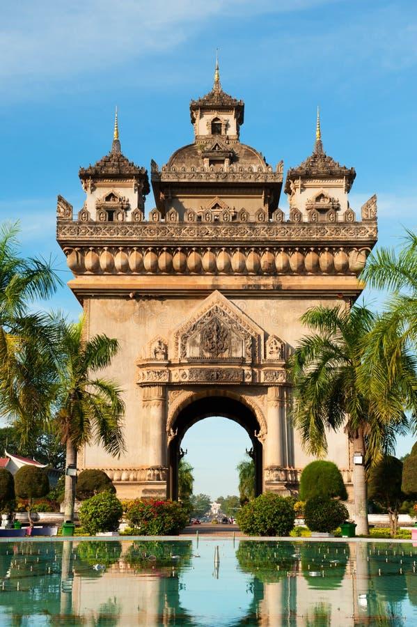 Monumento di Patuxai, Vientiane, Laos. immagine stock