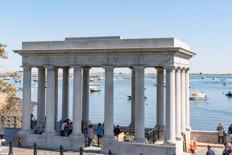 Monumento di Plymouth Rock immagine stock libera da diritti