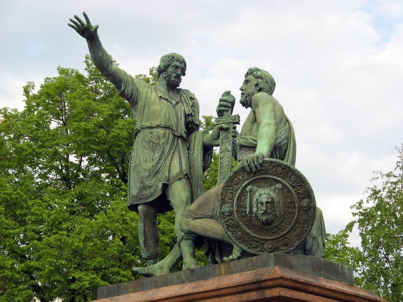 Monumento di Pozharsky & di Minin fotografie stock libere da diritti