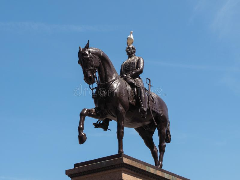 Monumento di principe Albert a Glasgow fotografie stock