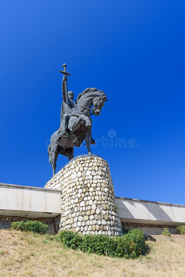 Monumento di re Erekle II in Telavi georgia fotografie stock