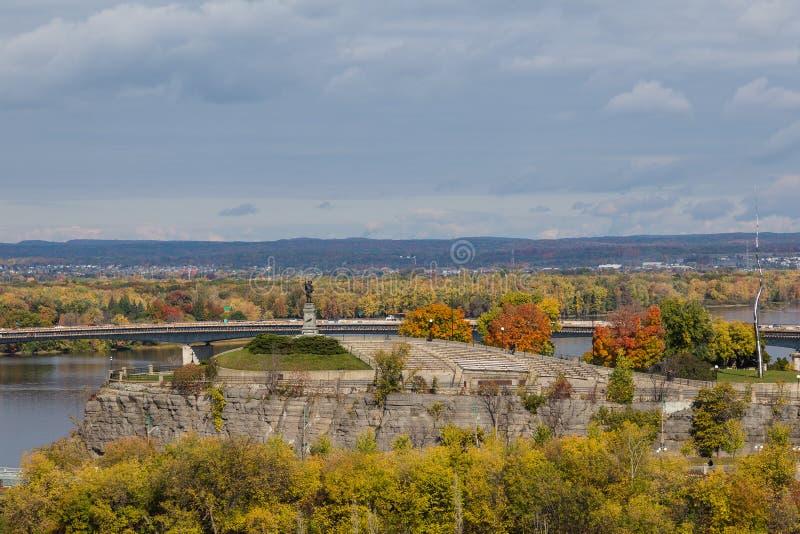 Monumento di Samuel de Champlain immagine stock