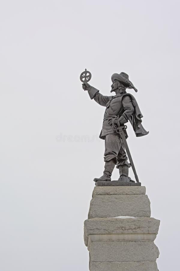 Monumento di Samuel de Champlain sul punto di Nepean, Ottawa immagine stock libera da diritti