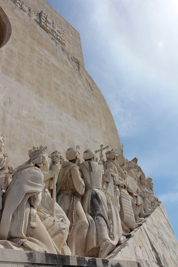 Monumento di scoperta di Lisbona DOS Descobrimentos di Padrao fotografia stock