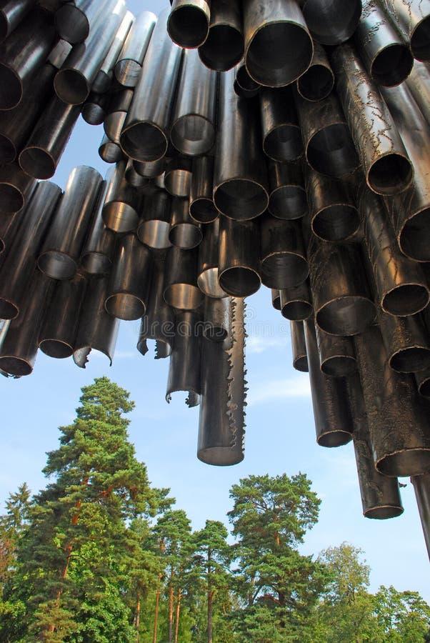 Monumento di Sibelius a Helsinki fotografia stock